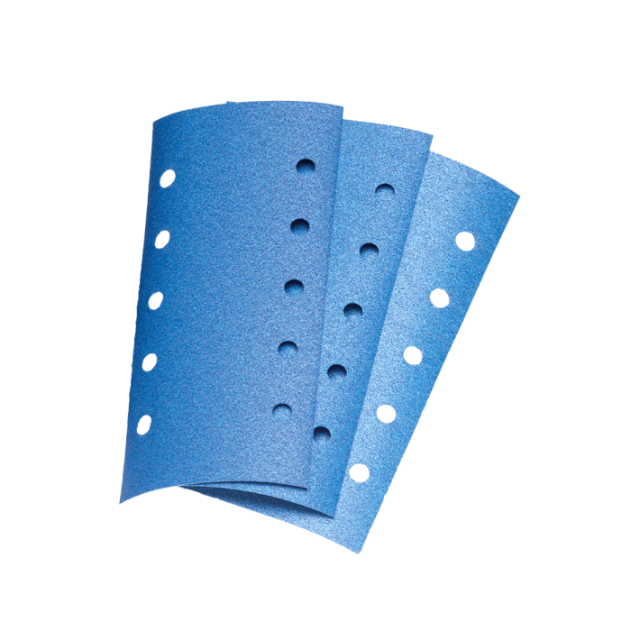 Hartie abraziva Colad pe uscat (10 gauri) velcro 115 x 230 mm