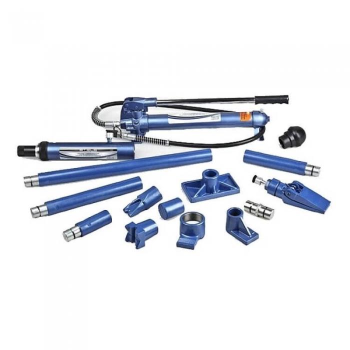 Set presa hidraulica Stels 10T si accesorii pentru tinichigerie