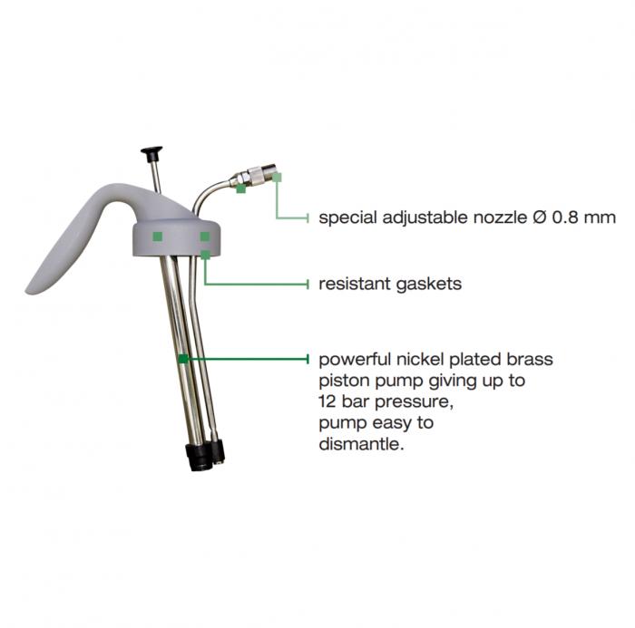Pompa pulverizat Anest Iwata HCA12.0 High Quality Silver (WB) 1 litru 1